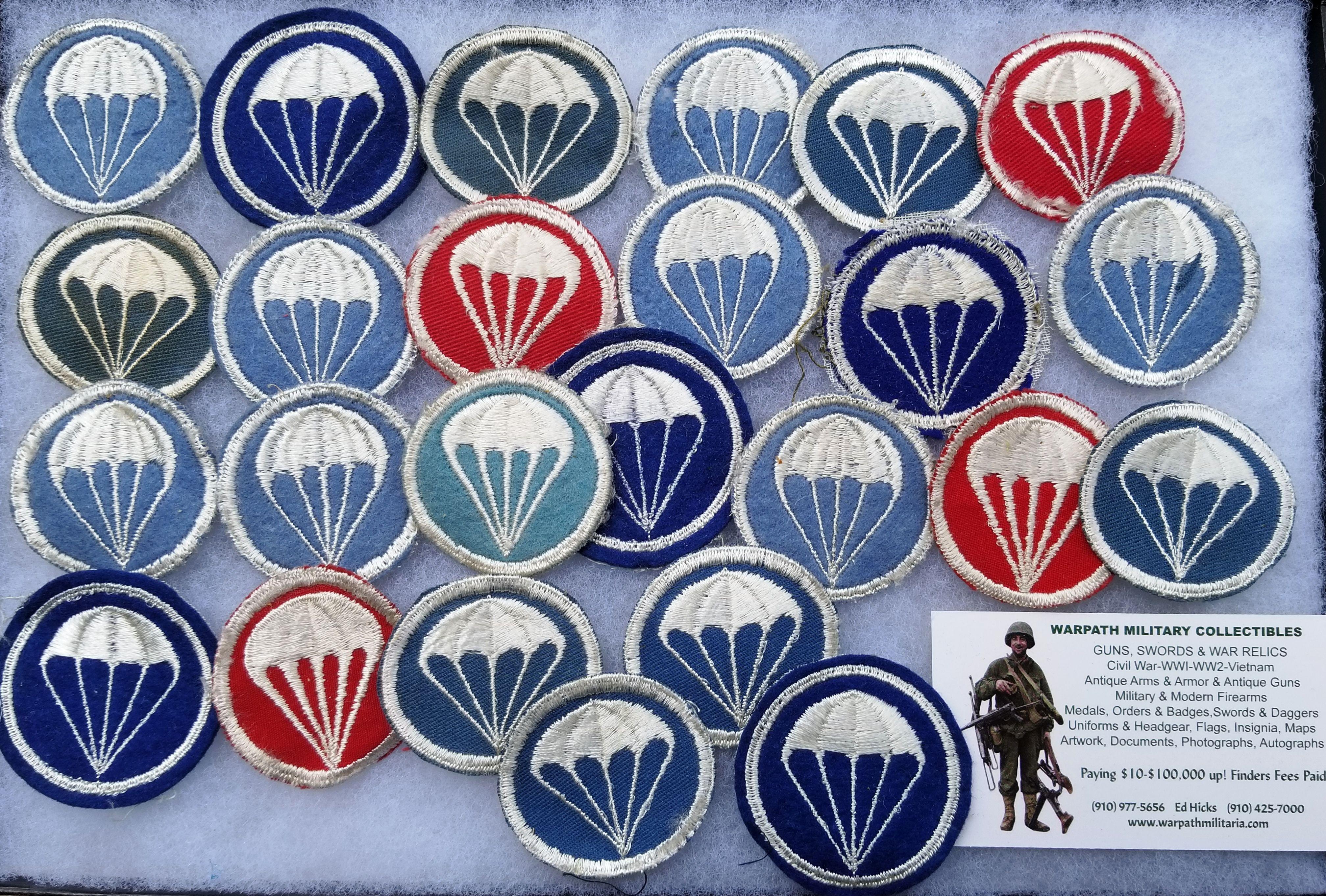 WWII US Army Airborne Paratrooper Cap Insignia www warpathmilitaria