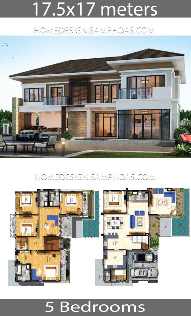 House Plans Idea 17 5x17 With 5 Bedrooms Home Ideassearch House Blueprints House Plans Mansion House Layouts