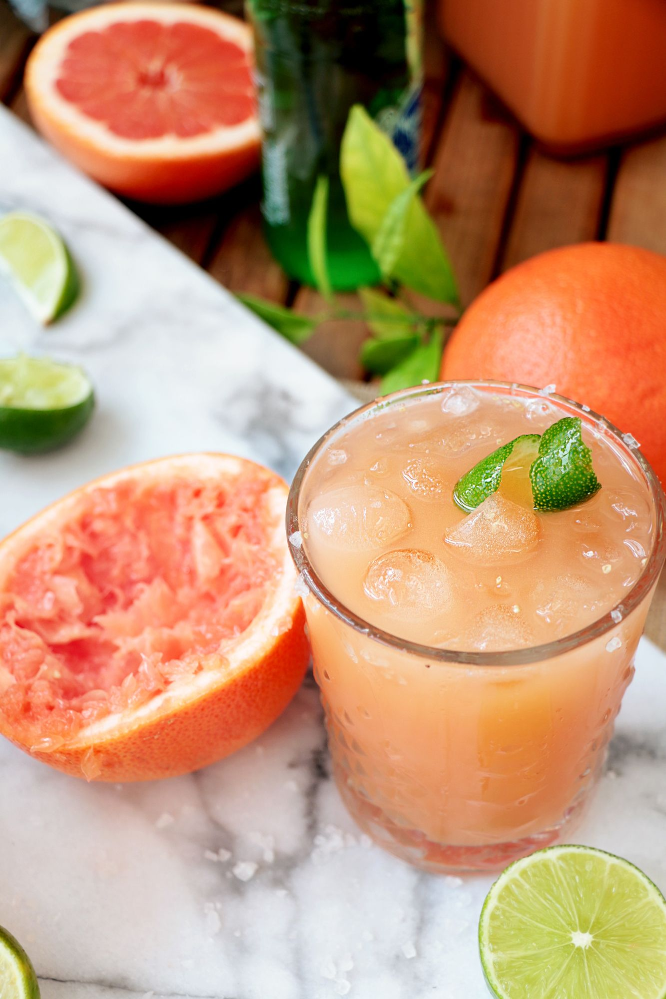 Unwind and sip on this refreshing grapefruit cocktail ...