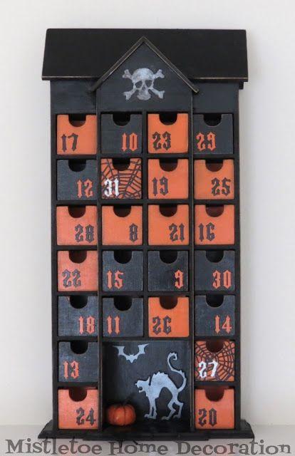 21++ Diy halloween advent calendar inspirations