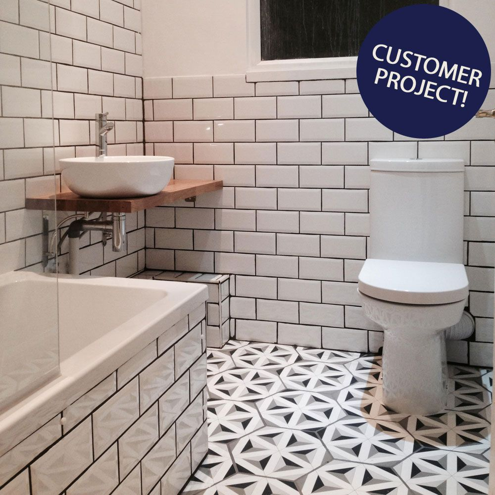 Retro metro white gloss wall tiles walls and floors 10x20 porcelain contour shadow hexagon tiles from the contour hexagon tiles range by envy dailygadgetfo Image collections