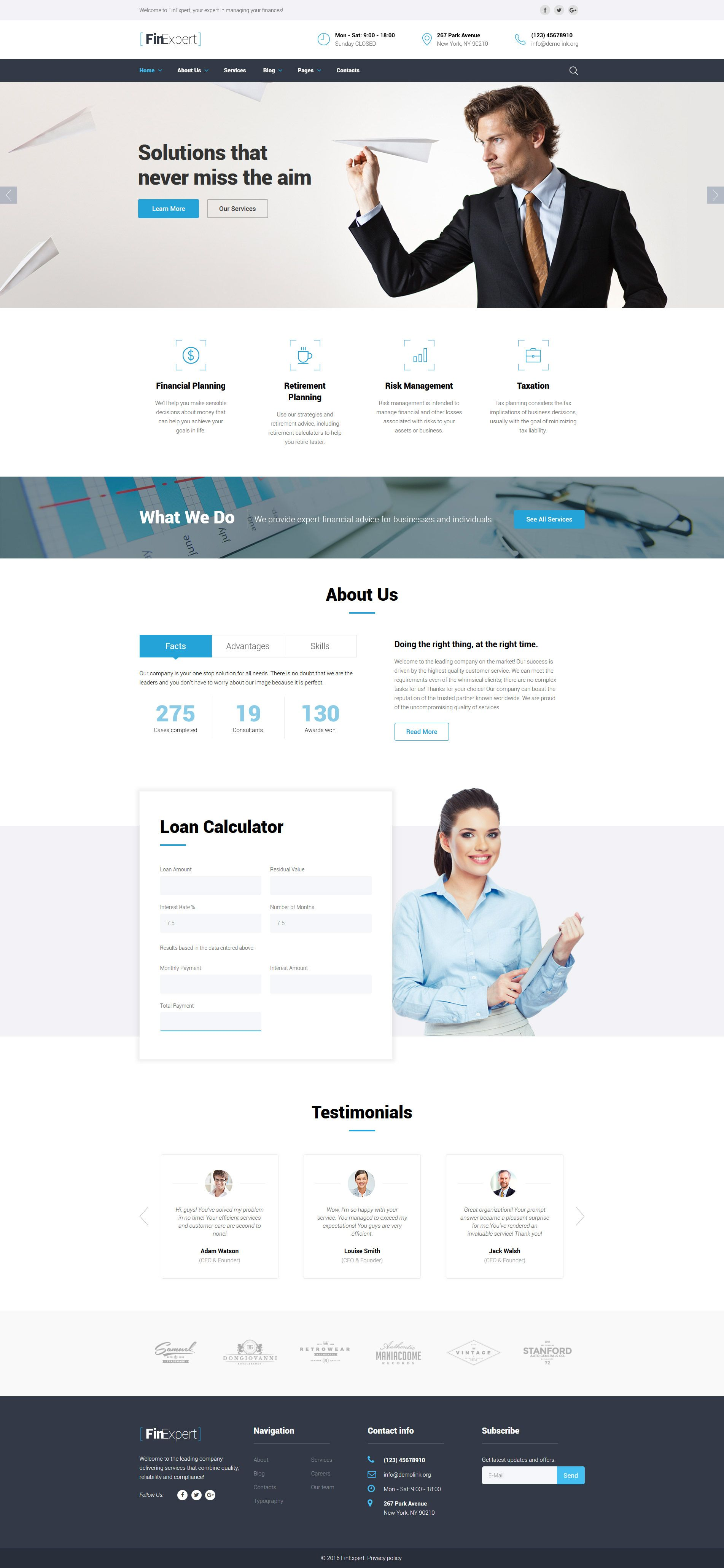 Financial Advisor Website Template | Website template