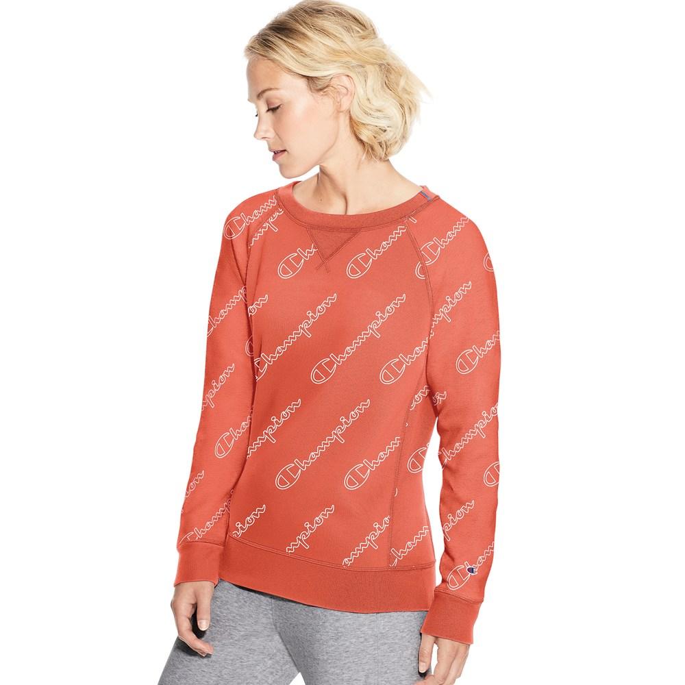 c504f281e2f Women's Champion Heritage French Terry Raglan Sleeve Top, Size: Medium,  Groovy Papaya