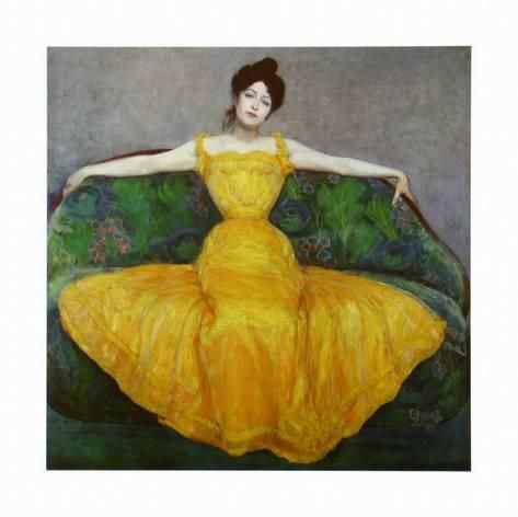 Lady in Yellow, c.1899By Maximilian Kurzweil | Gelbes kleid