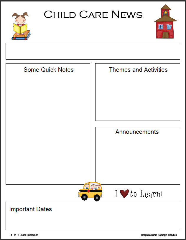 preschool monthly newsletter template daycare ideas pinterest