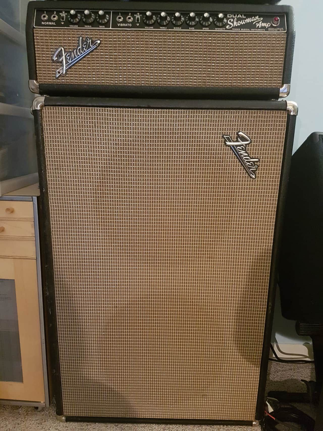 Up for sale is my 1967 Fender Blackface Dual Showman Amp