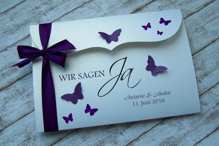 einladung zur hochzeit lila bogenkarte gross einladung. Black Bedroom Furniture Sets. Home Design Ideas