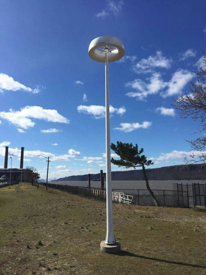 Omniled - Autonomous Energy Platform installed in Hudson River water front Yonkers, NY
