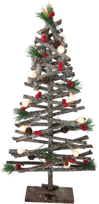 This artificial wood tree would be perfect for the church Christmas