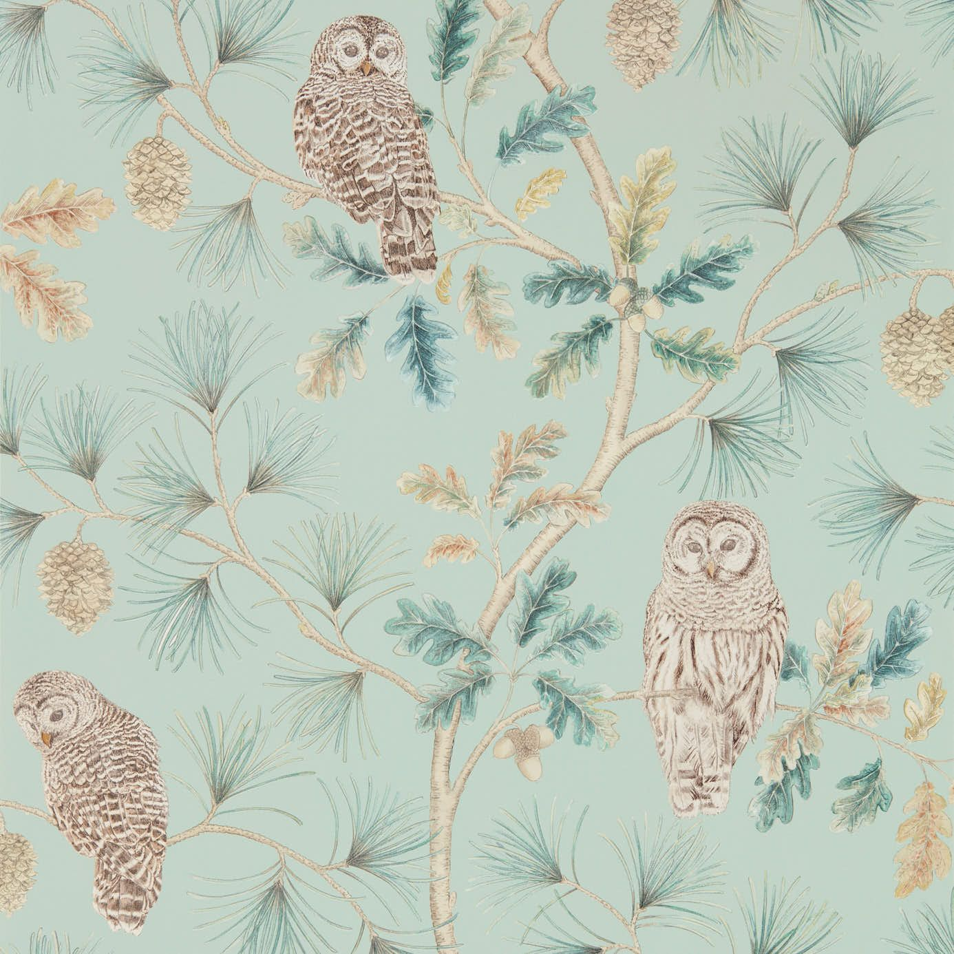 Style Library The Premier Destination For Stylish And Quality British Design Products Owlswick Wallpaper Wallpaper Dysi216596 Ely Blue Wallpapers Deer Wallpaper Wallpaper