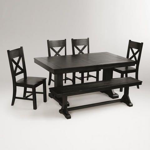 Swell Antique Black Verona Bench World Market New Kitchen Ibusinesslaw Wood Chair Design Ideas Ibusinesslaworg