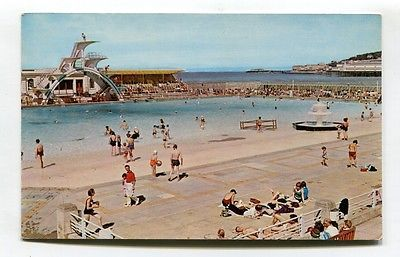 Weston Super Mare Swimming Pool Diving Board C1960 39 S Somerset Postcard View More On The