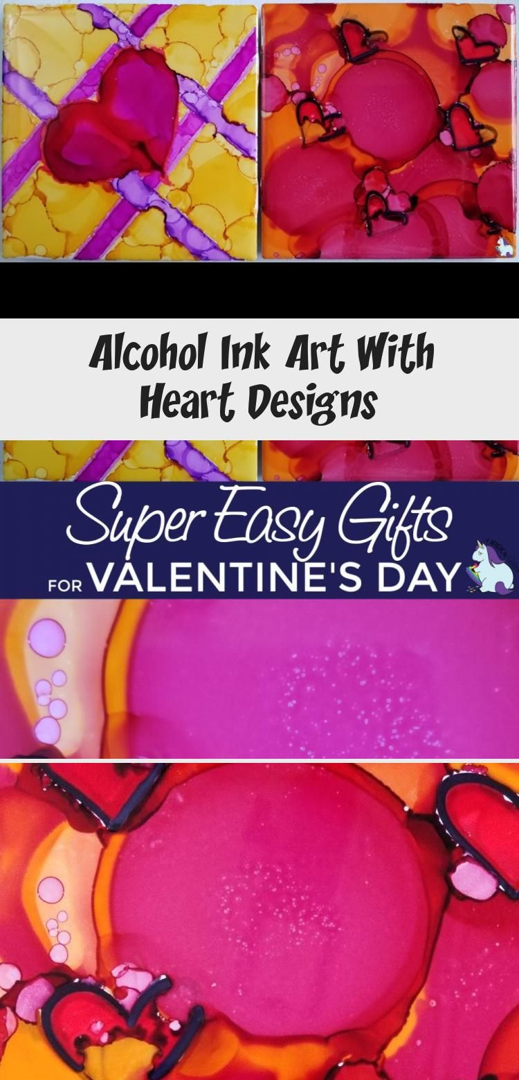 Get creative with alcohol ink. Watercolor art that's so fun to make to give as homemade gifts or home decor. #valentinesday #hearts #art #diy #crafts #ink #tiles #gifts #handmade #homemade #HomeDecorDIYVideosCheap #HomeDecorDIYVideosIdeas #HomeDecorDIYVideosBedroom #HomeDecorDIYVideosOnABudget #HomeDecorDIYVideosApartment