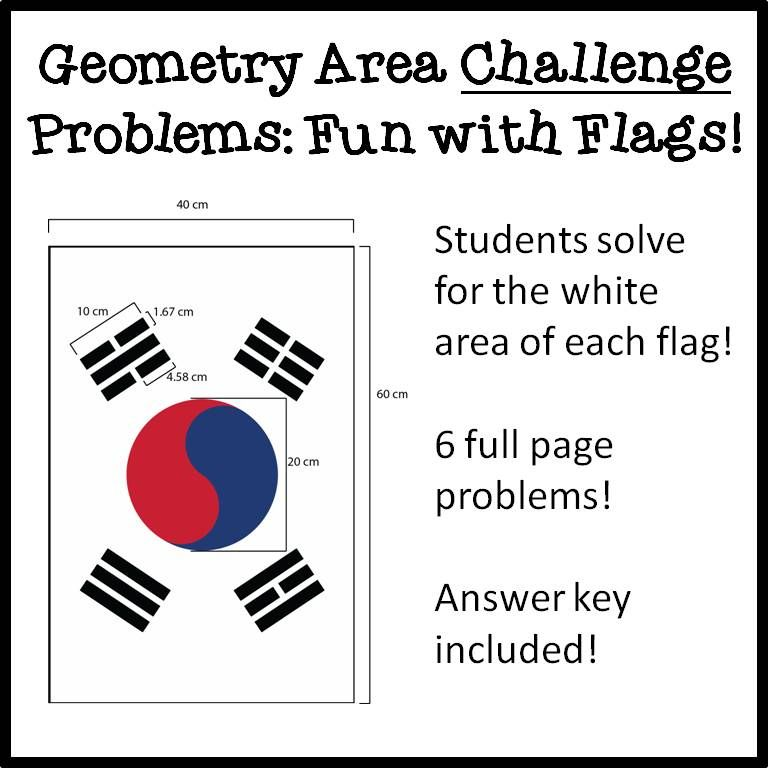 Geometry Solving Area Challenge Problems: Fun with Flags