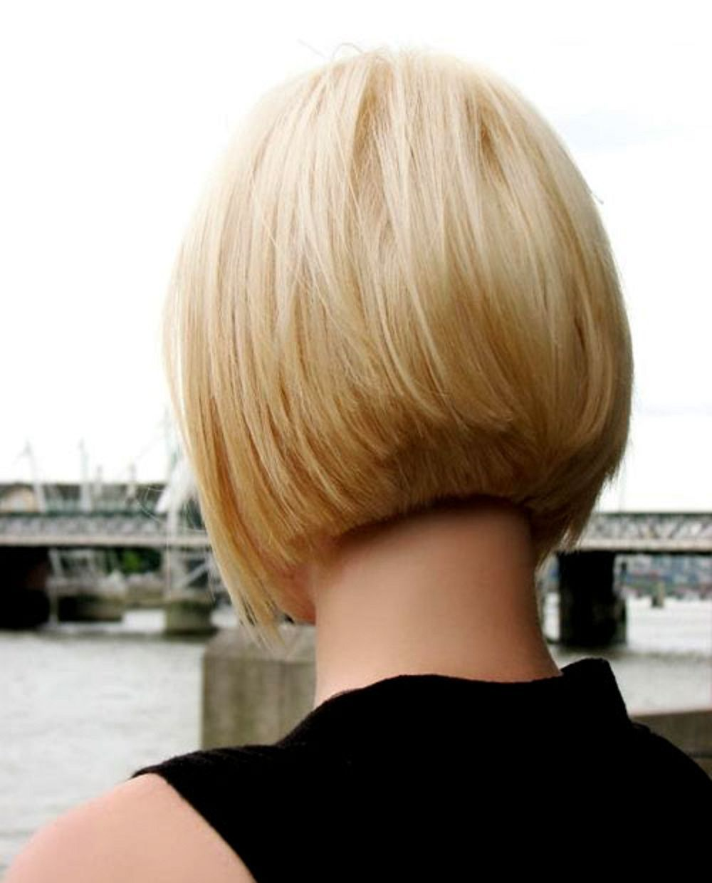 I like the clean lines of the back doces pinterest bobs hair