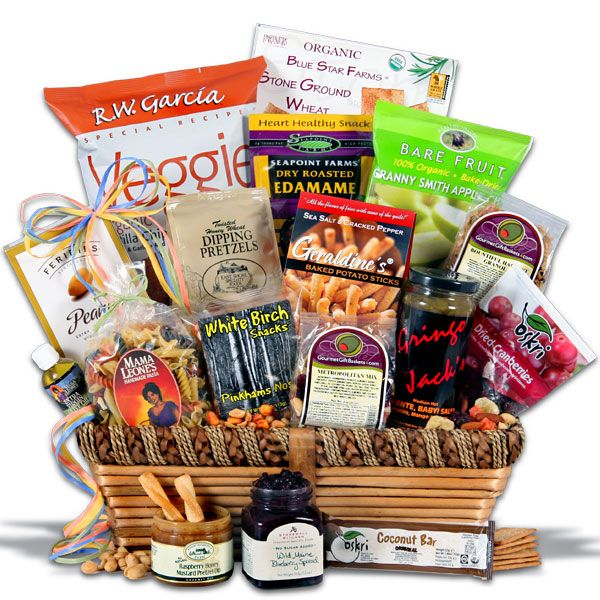 Healthy Gift Basket Deluxe | care package ideas....to mail ...