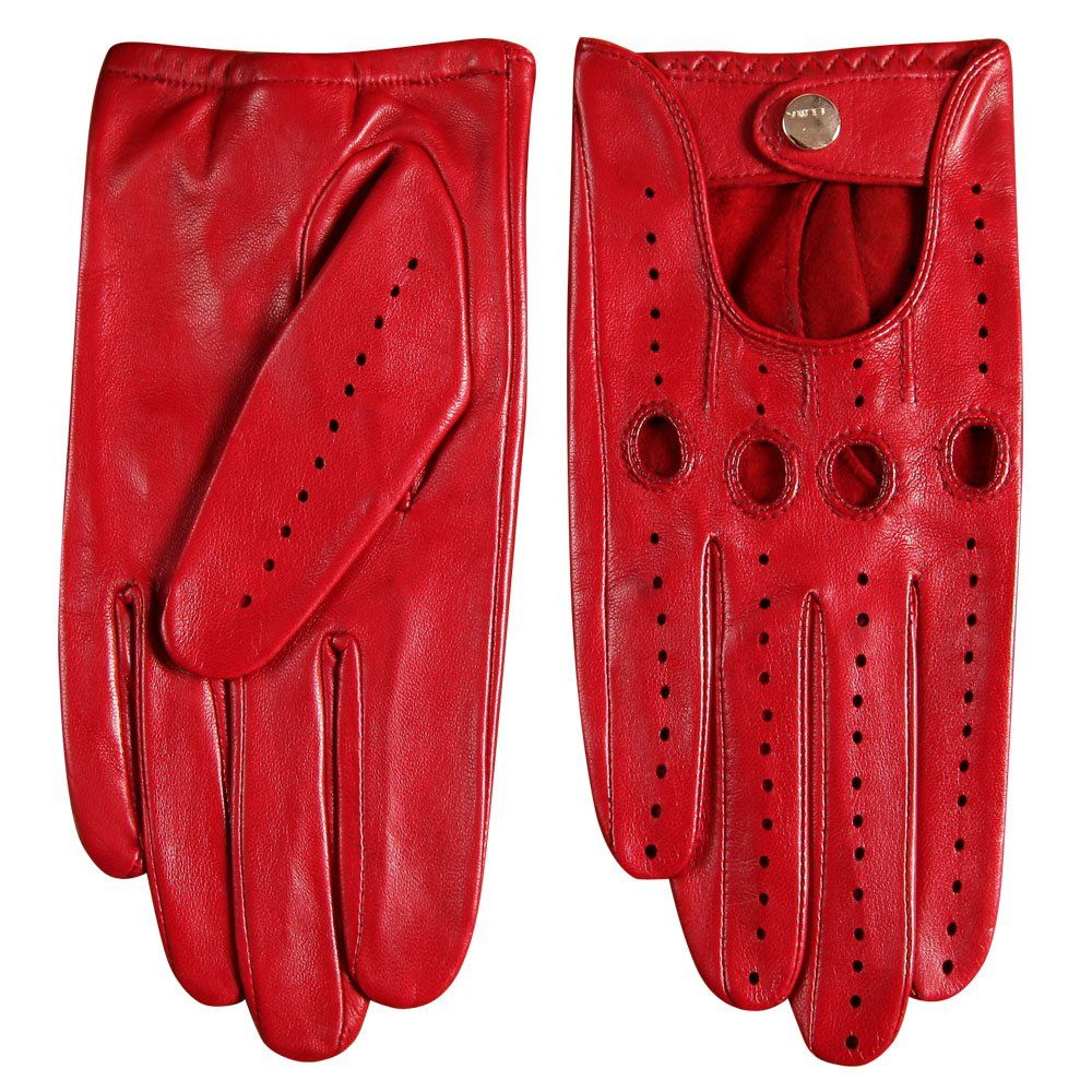 Elma Tradional Womens Italian Nappa Leather Gloves Motorcycle Driving Open Back
