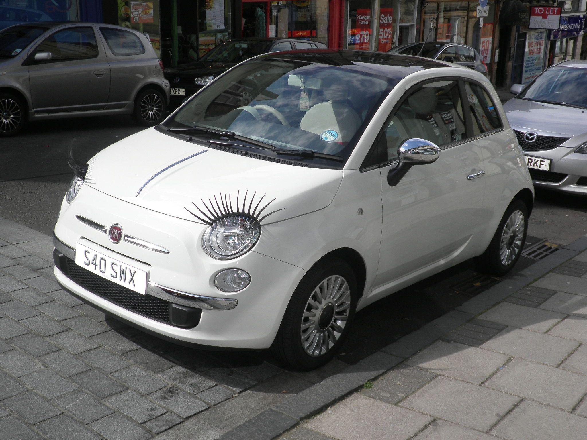 a525d87bd0 Fiat 500 with eyelashes. | Love my FIAT 500! | Fiat, Fiat 500, New fiat