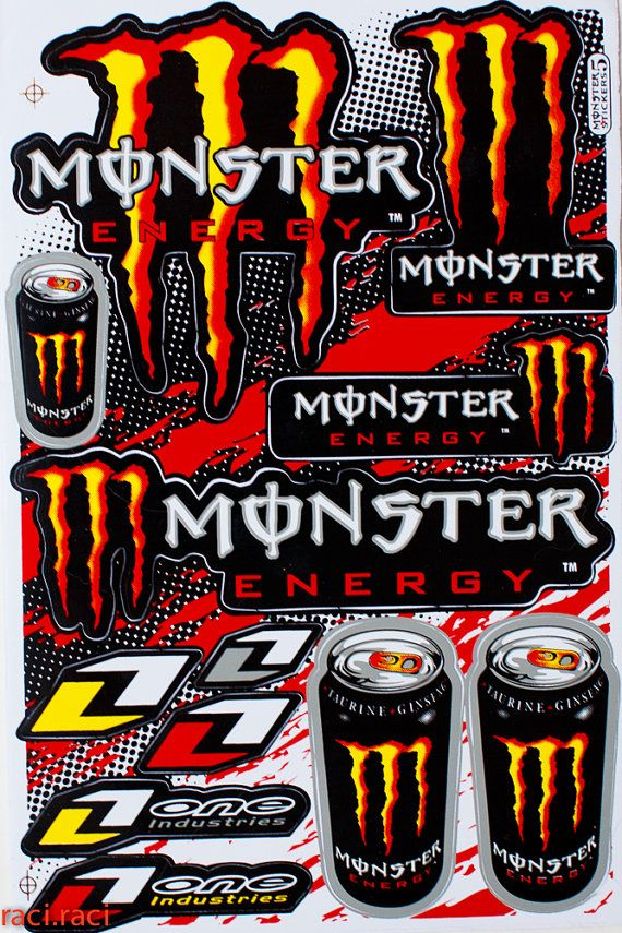 orange monster energy one industries claws sticker decal. Black Bedroom Furniture Sets. Home Design Ideas