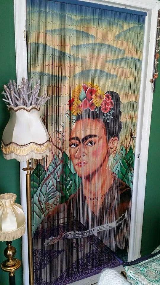 Our Frida Kahlo Bamboo Curtain In A Dutch House