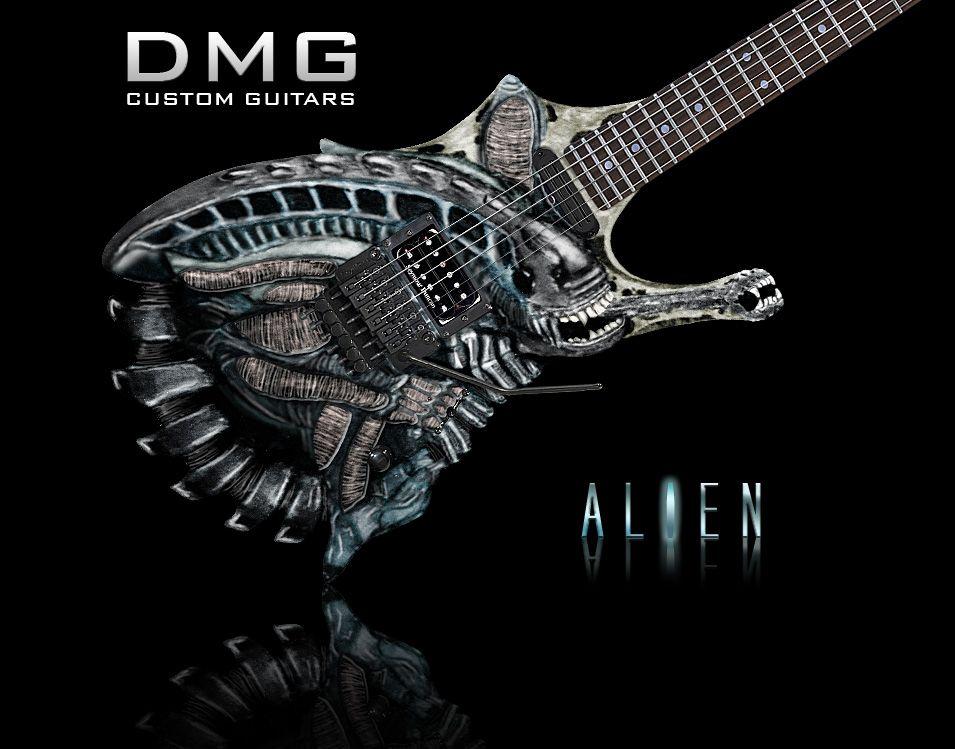 Dmg Alien Guitar Custom Guitars Guitar Design Custom Electric Guitars