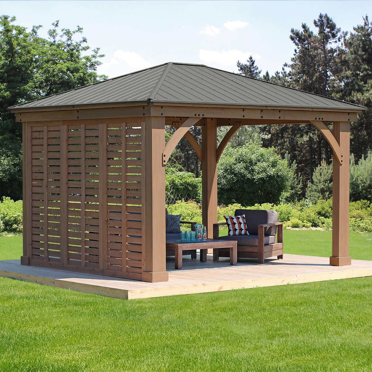 12 Gazebo Privacy Wall Outdoor Pergola Backyard Pergola Patio