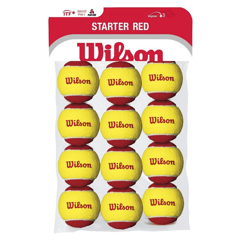 Wilson Us Open Stage 3 Youth Tennis Ball 36 Ball Pack Red Tennis Us Open Racquet Sports