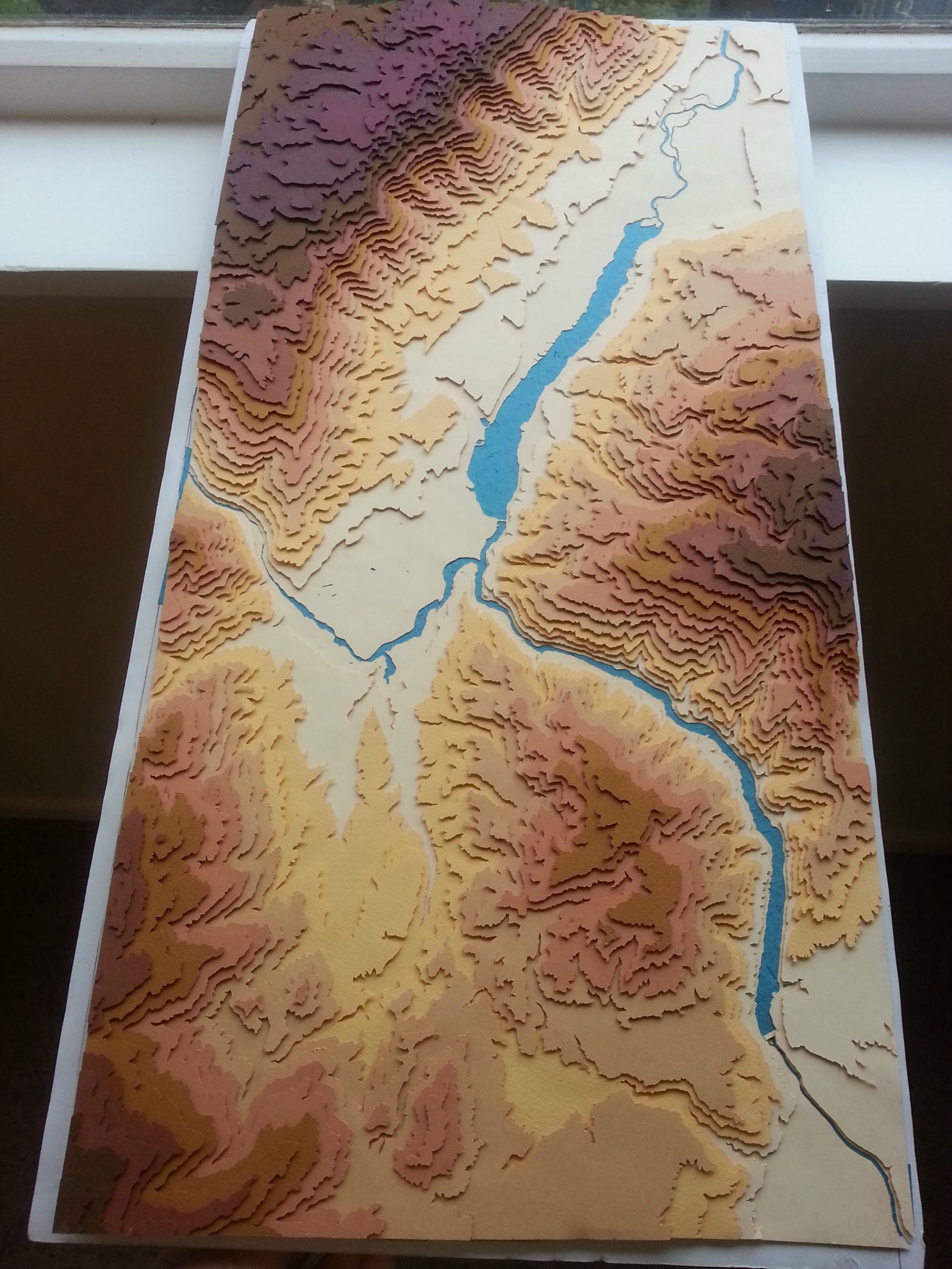 3D Topographical map of Cromwell u0026 Lake