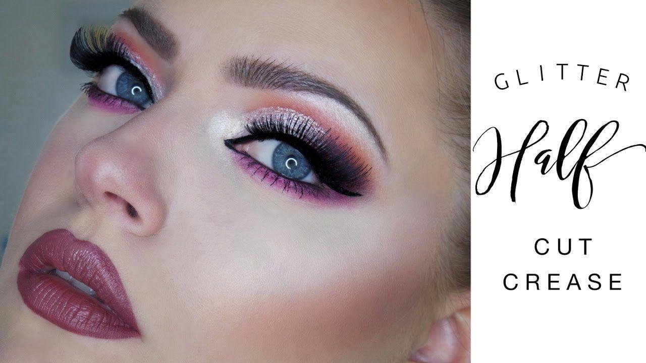 Glittery half cut crease for hooded eyes makeup pinterest glittery half cut crease for hooded eyes baditri Choice Image