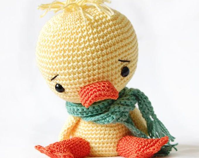 Amigurumi Crochet Duck Pattern Chico The Duck Softie Plush