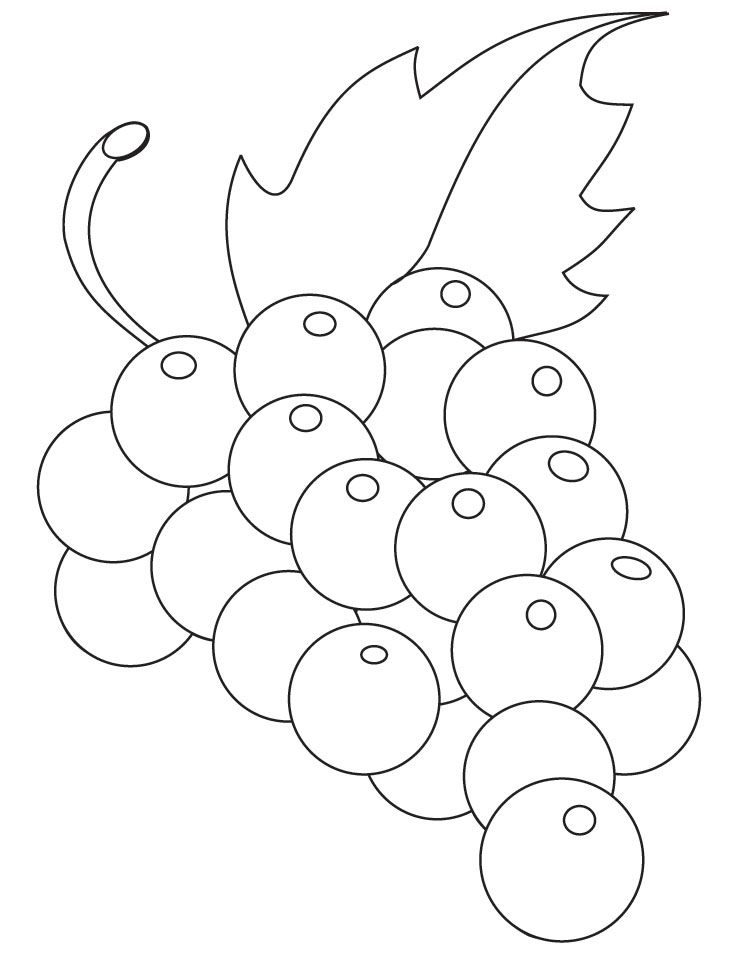 Green grapes coloring pages | Download Free Green grapes coloring ...