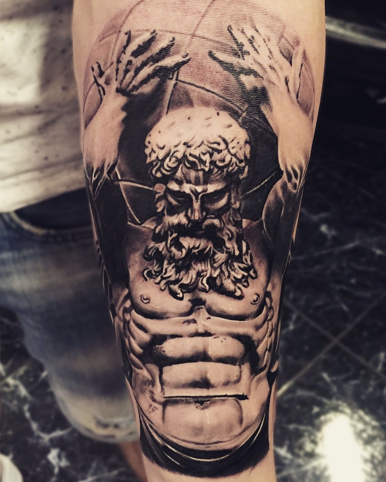 atlas greektattoo titan ink