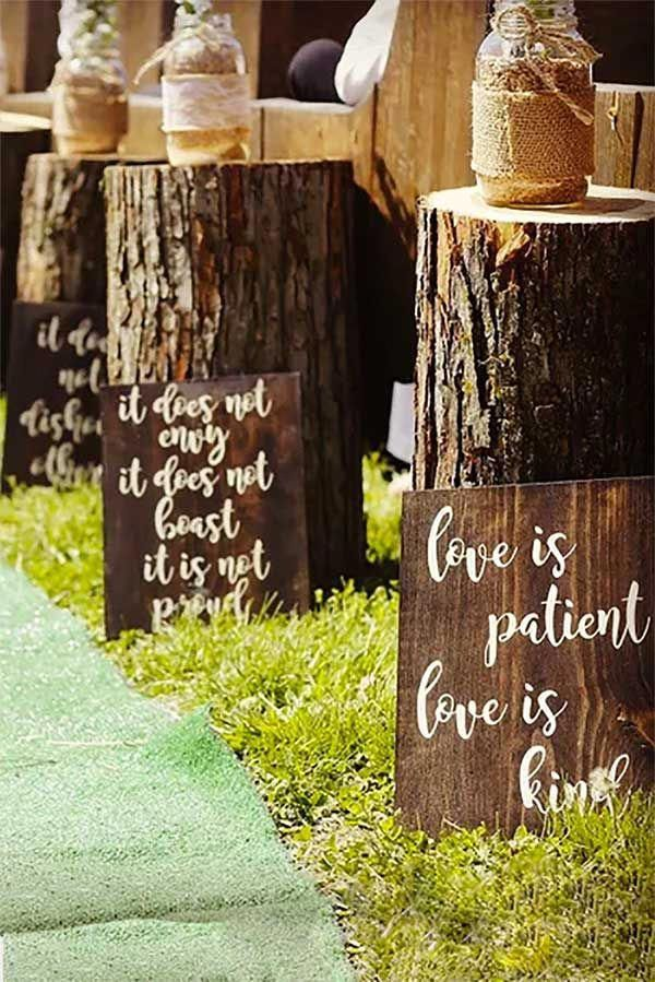 "Bible Verse Wedding Aisle or Reception Decor (8 signs, 9"" x 12"") 