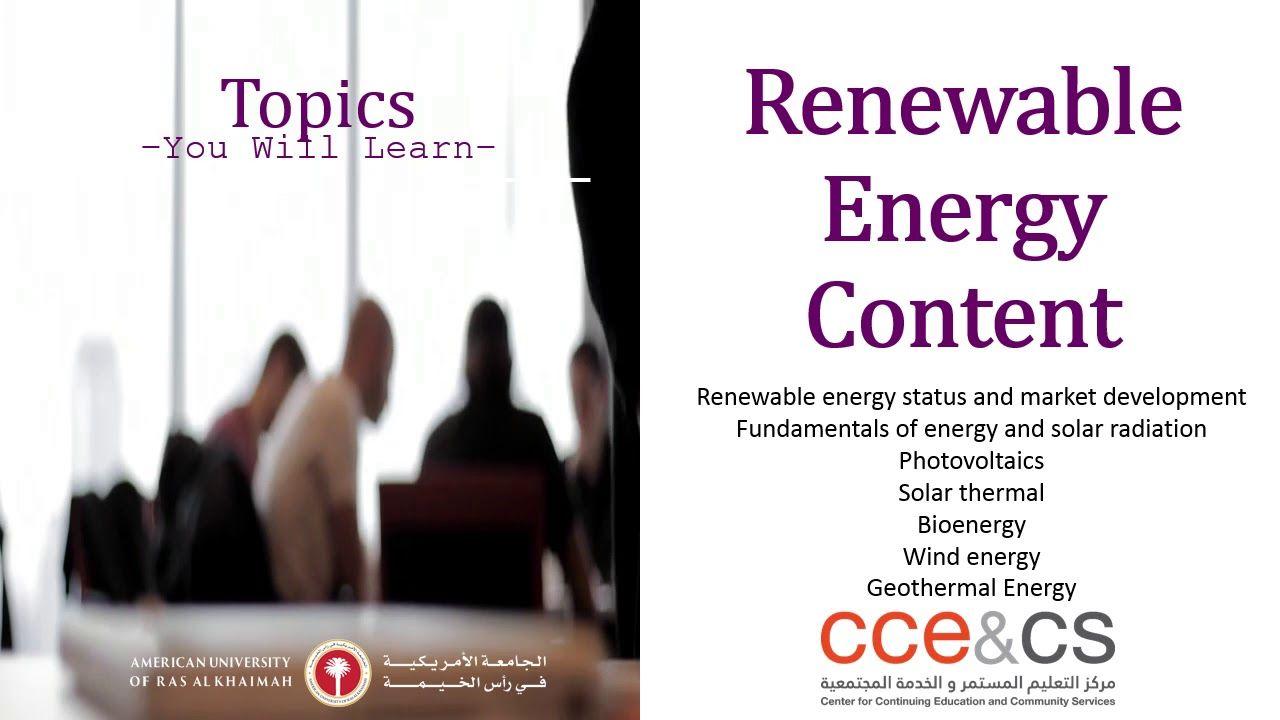 Renewable Energy Training Courses in UAE Solar Energy Training