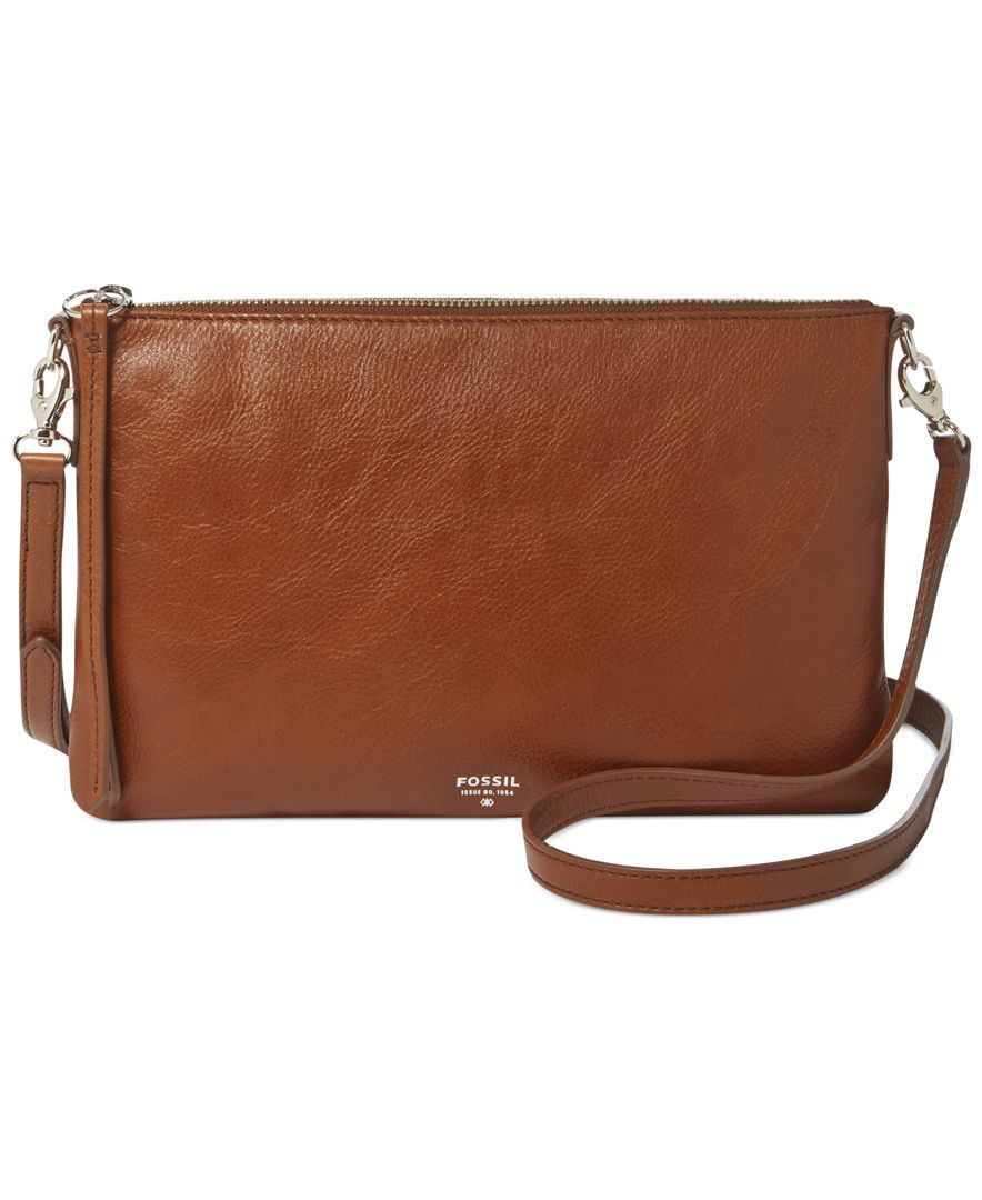 Fossil Sydney Leather Top Zip Crossbody - Crossbody Messenger Bags -  Handbags Accessories - Macy s fde938dcbaa3f