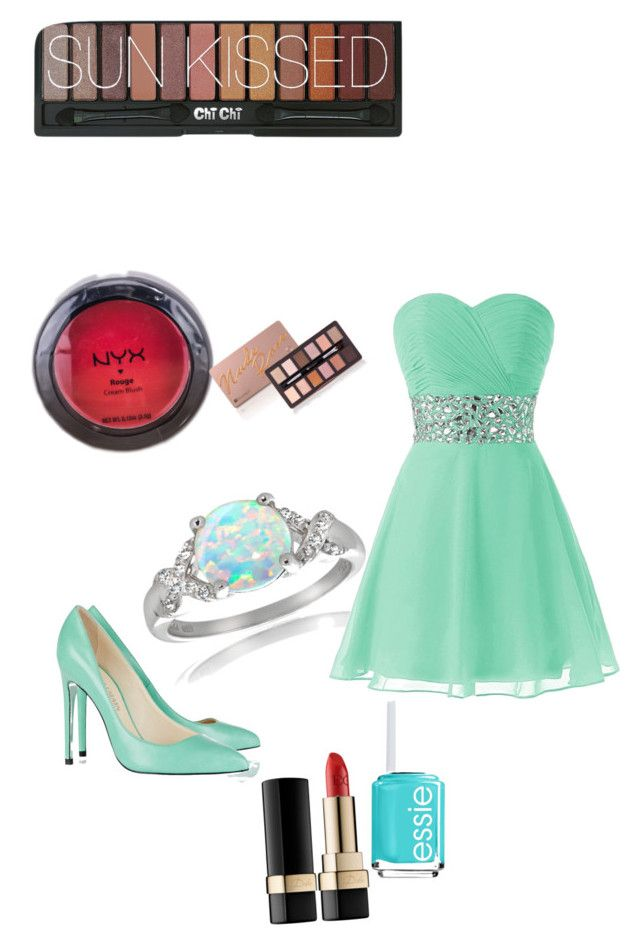"""""""Homecoming"""" by erinn29 ❤ liked on Polyvore featuring Glitzy Rocks, Balmain, Dolce&Gabbana, Essie and NYX"""