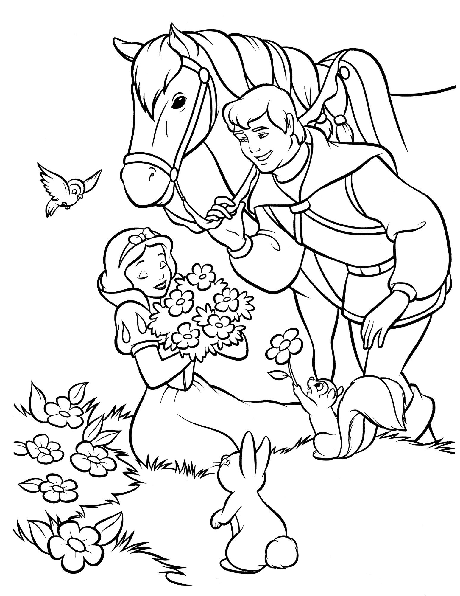 Snow White Color Pages to Print | Activity Shelter | color time with ...