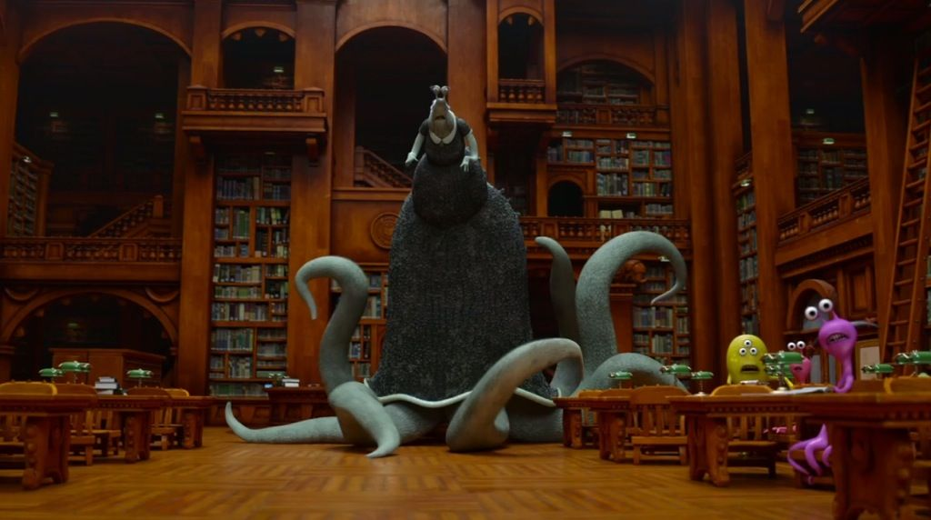 Monsters Like Reading To Although Their Librarian S Are Scarier The Library From Monsters University Monster University Welcome To Night Vale Librarian