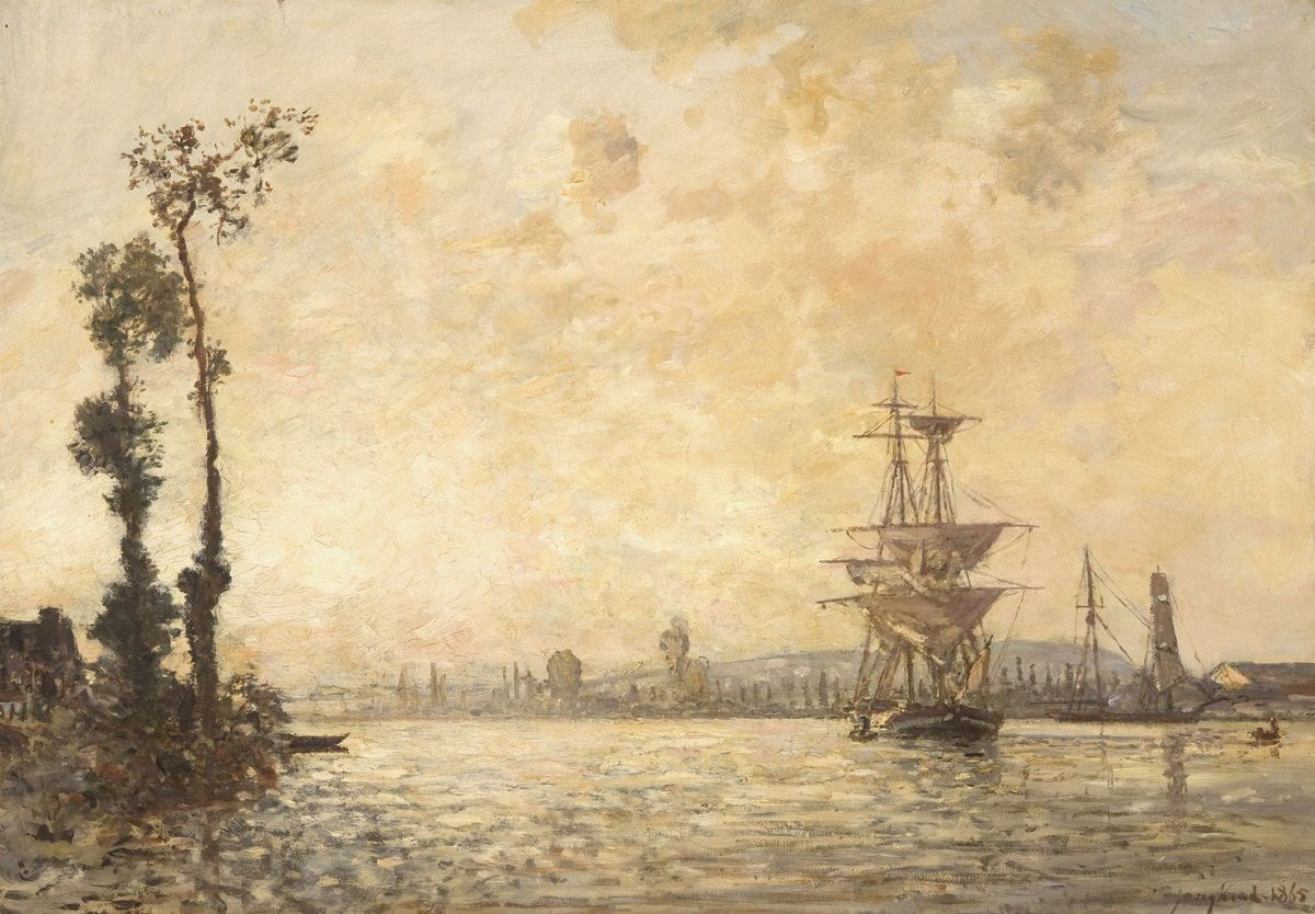 Antonio Jacobsen  Auxiliary Steamship /'Somerset/' Giclee  Canvas Print