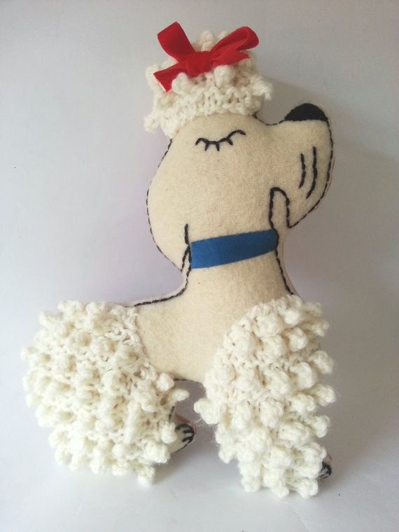 Fifi poodle soft toy by madebyswimmer on Etsy