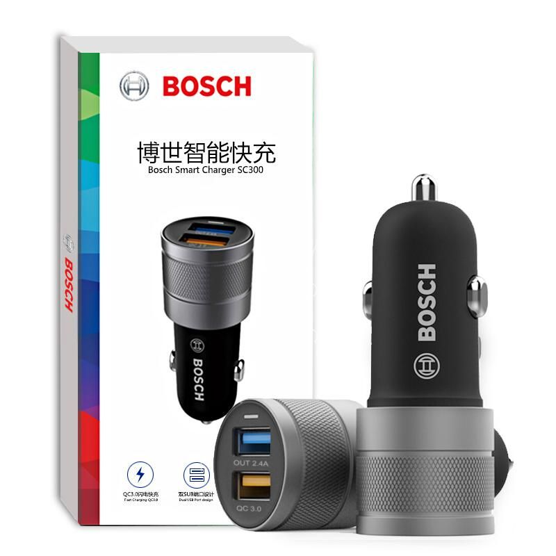 20338c3fc32 1pc BOSCH #car charger Adapter #cigarette lighter USB 3.0 smart fast charge  phone charging Car fast charging