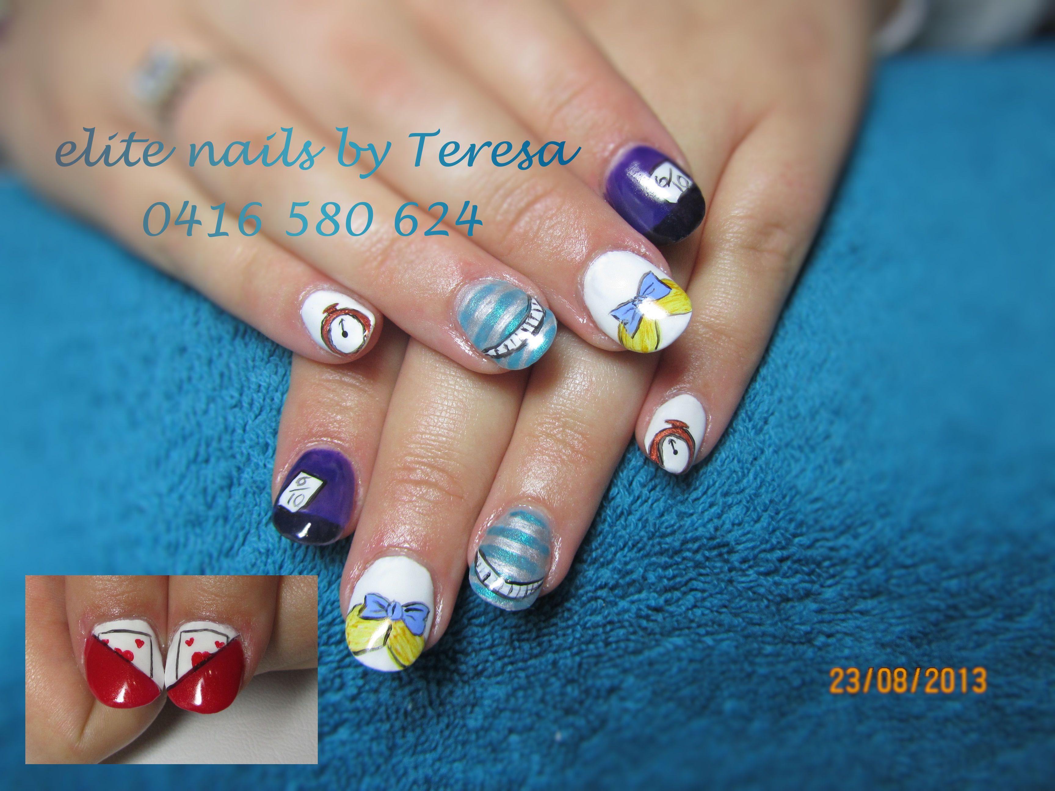 Alice In Wonderland nails | Disney nail art | Pinterest | Disney ...
