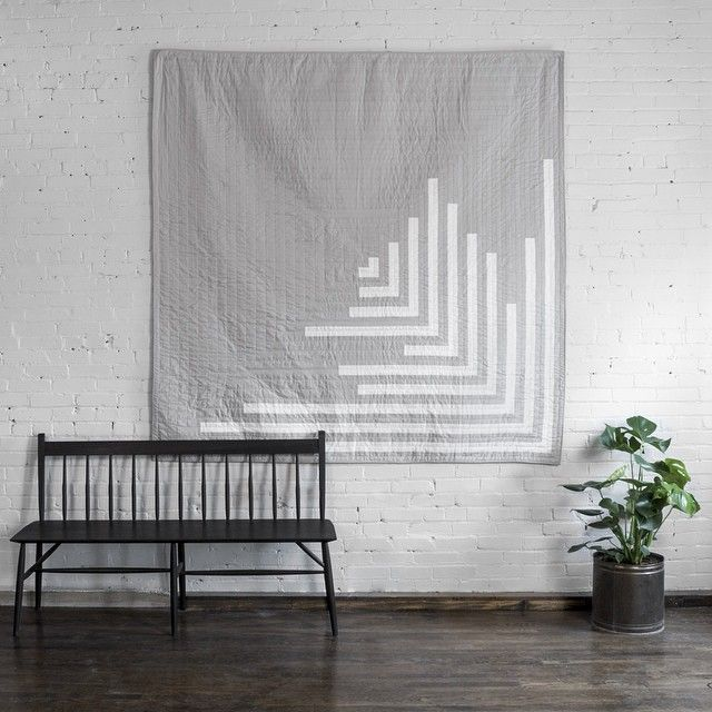 decor inspiration: quilts as wall art