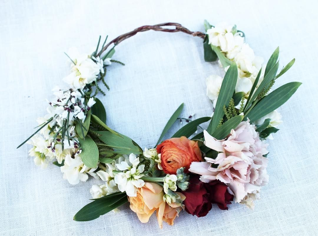 Tropical Californian Flower Crown Ranunclus Carnation And