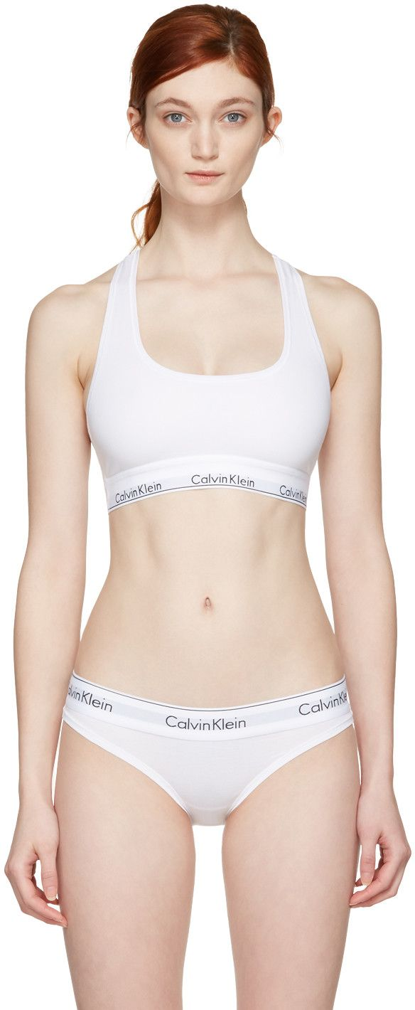 11036217dbf3a Calvin Klein Underwear - White Modern Bralette   STYLE   Pinterest ...