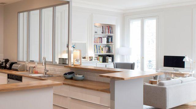 cuisines semi ouvertes sur le salon ou la salle manger cuisine semi ouverte ouvert et pratique. Black Bedroom Furniture Sets. Home Design Ideas