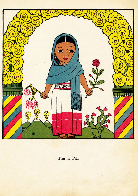 vintage kids Mexican book The Painted Pig by OnceUponABookshop | Illus Project | Vintage, Books