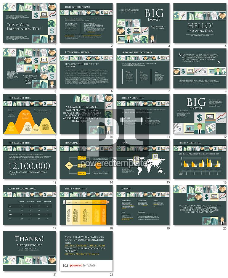 financial google slides theme free template poweredtemplatecom