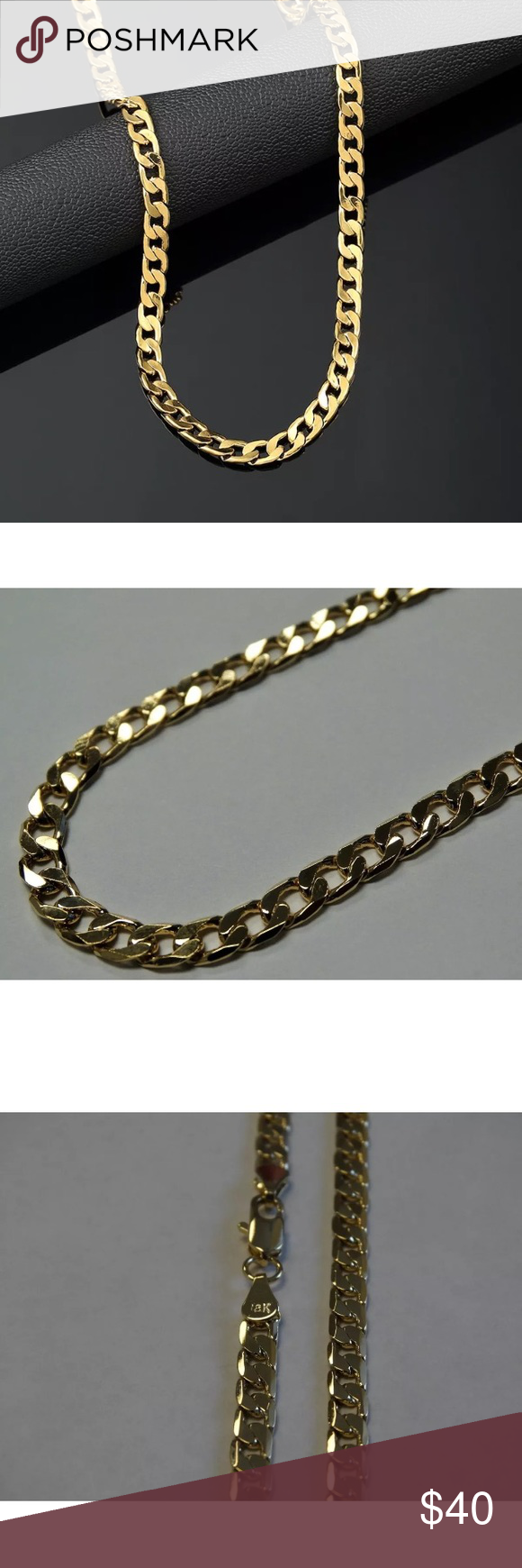 inch gold plated cuban link chains gold and nice