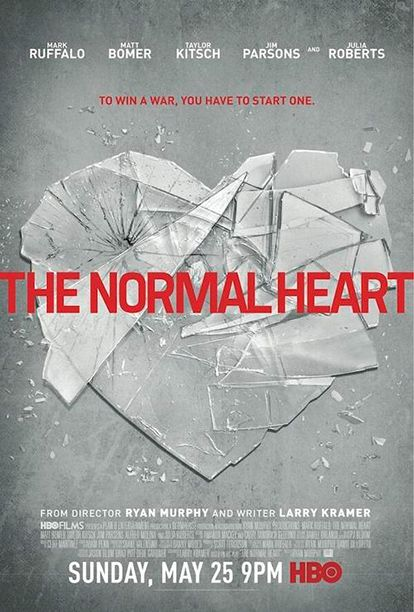 Broken Heart Takes Spotlight In New Normal Heart Poster Mega